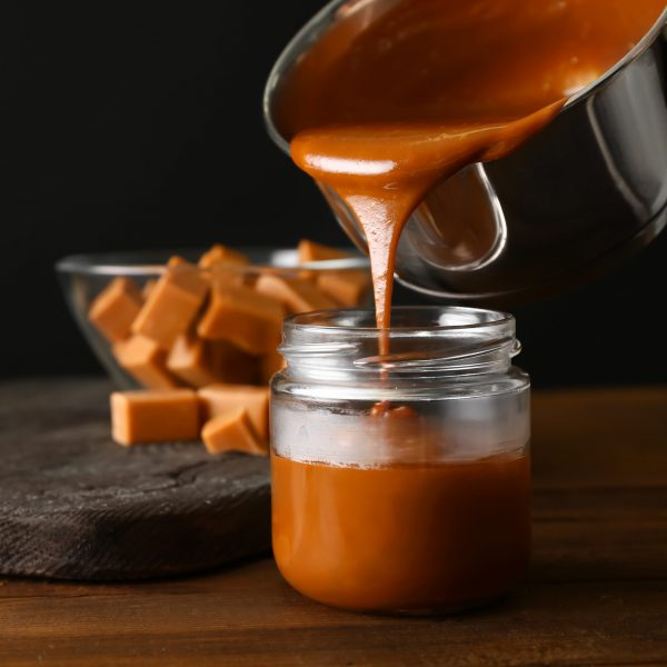 Pot de caramel au beurre salé Crêperie La-Bretonne.com